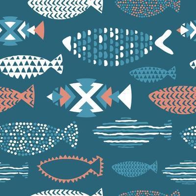 Tribal Fish Pattern