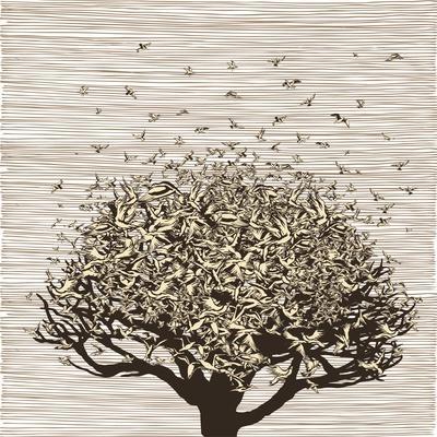 Birds like Leaves on a Tree