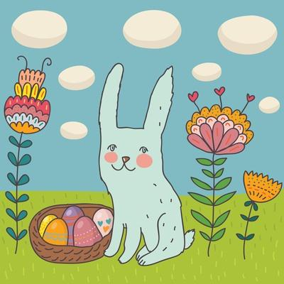 Funny Cartoon Easter Rabbit