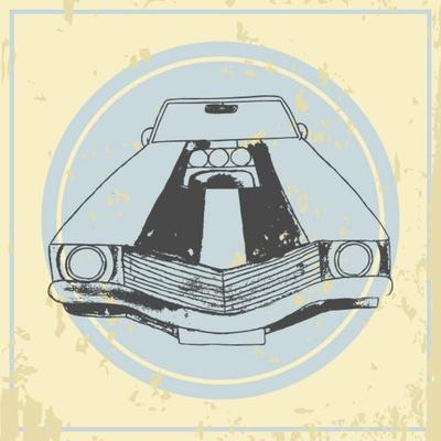 Vector American Muscle Car. Retro Car. Hand Drawn Car