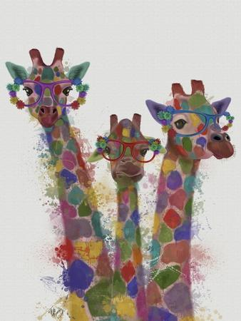 Rainbow Splash Giraffe Trio
