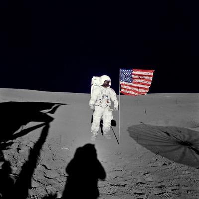 Spacewalk of Edgar Mitchell on Apollo 14 Mission, 1971