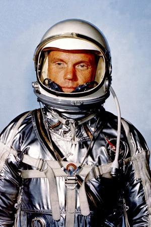 Astronaut John Glenn in His Silver Mercury Pressure Suit at Cape Canaveral, 1962