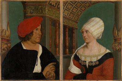 Double Portrait of the Basel Mayor Jacob Meyer Zum Hasen and His Wife Dorothea Kannengiesser, 1516