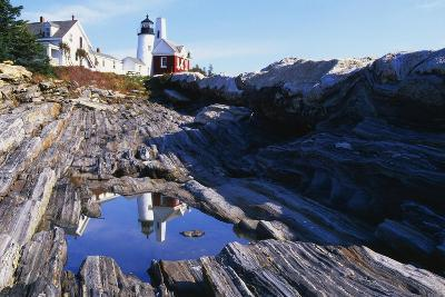 Reflection of a Lighthouse Pemaquid Point Maine