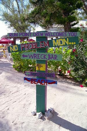 Colorful Signpost at Rum Point Cayman Islan