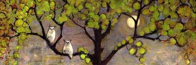 Two Owls in the Moon Light