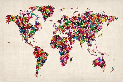 Butterflies Map of the World