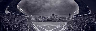 Wrigley Field Night Game Chicago BW