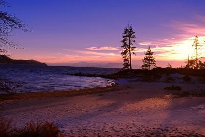 Winter Sunset, Sand Beach Bay, Lake Tahoe
