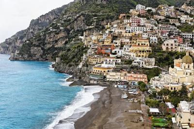 Beach of a Hillside Town, Positano, Italy