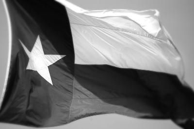 Texas Flag BW