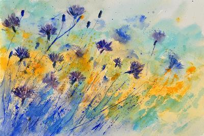 Watercolor Cornflowers
