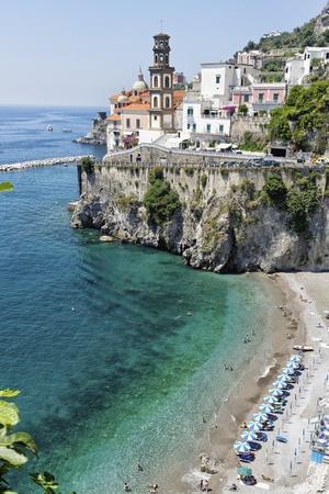 Beach at the Amalfi Coast, Amalfi, Italy