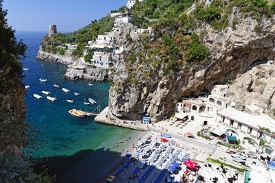 Amalfi Coast Beach at Praiano, Italy