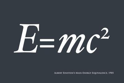 Einstein E equals mc2
