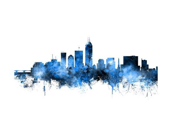 indianapolis indiana skyline prints by michael tompsett at