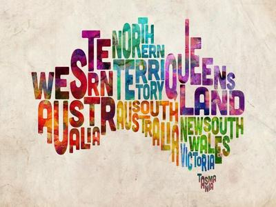 Australia Text Map