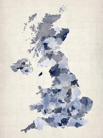 Great Britain UK Watercolor Map