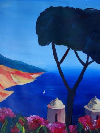 Ravello Salerno Italy View of Amalfi Coast from Vi