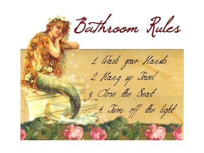 Mermaid Bathroom Rules