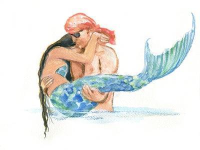 Pirate holding Mermaid