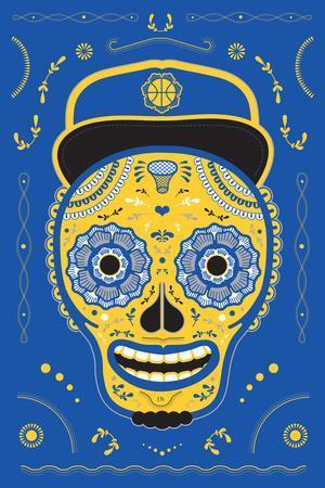 Hoops Skull Blue
