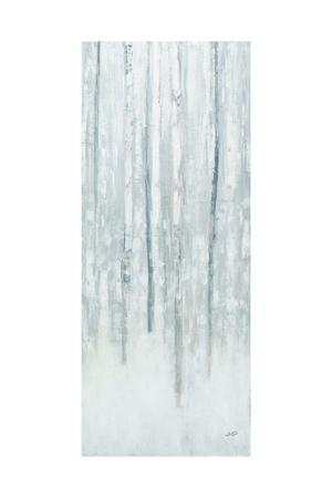 Birches in Winter Blue Gray Panel II