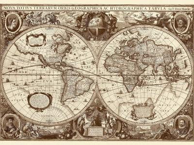 Nova Totius Terrarum Orbis Tabula (sepia)