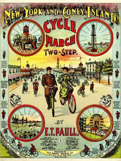 Sheet Music Covers New York And Coney Island Cycle March