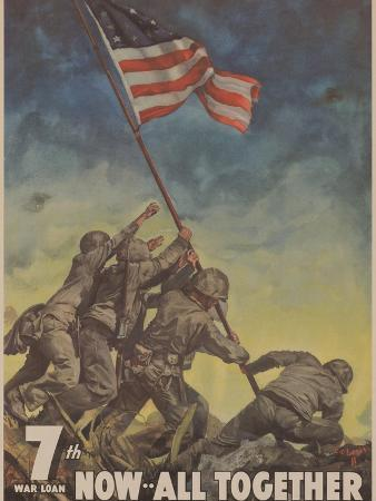 Center Warshaw Collection, Treasury Poster. 7th WAR LOAN. NOW... ALL TOGETHER