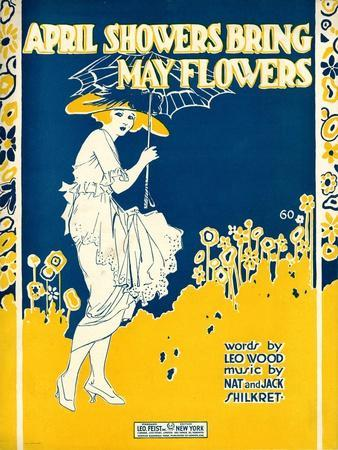 """Sheet Music Covers: """"April Showers Bring May Flowers"""" Music by N. and J. Sh"""