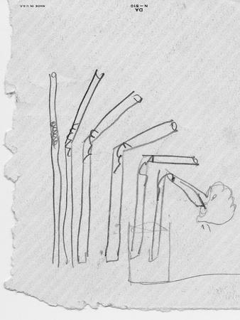 Sketch of Flexible Straw, circa late 1930s; Archives Center, NMAH