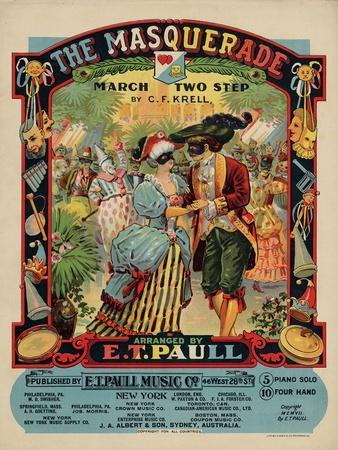 The Masquerade March Two Step, Sam DeVincent Collection, National Museum of American History