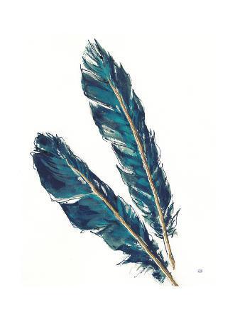 Gold Feathers III Indigo Crop