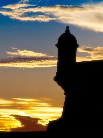 Silhouette of El Morro Fort, San Juan, PR