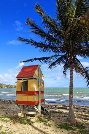 Lifeguard Hut on a Beach, Puerto Rico