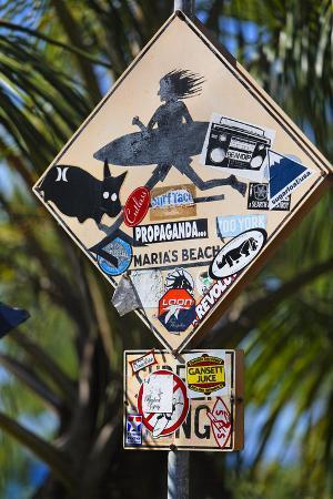 Surfer Crossing Sign, Rincon, PR