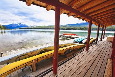 Boathouse, Maligne Lake, Canada