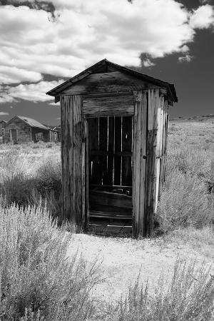 Outhouse in Ghost Town, Bodie, California