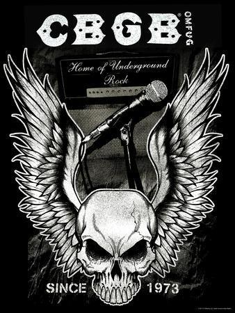 CBGB & OMFUG  - Skull with Wings