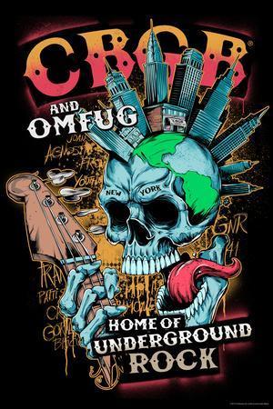 CBGB & OMFUG - Punk NYC Skull