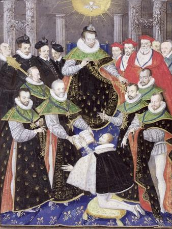 Ms 408/1574 Henri III (1551-89) at the First Chapter of the Holy Spirit