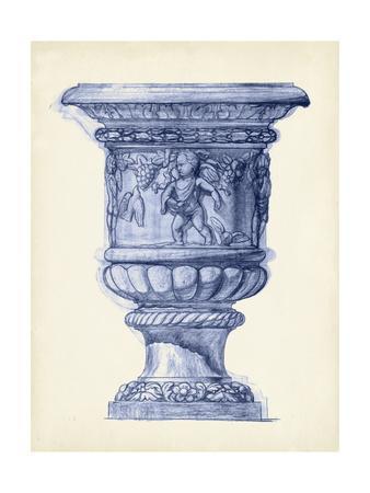 Palace Urns in Indigo III