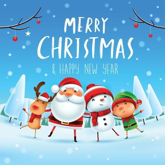Merry Christmas! Happy Christmas Companions. Santa Claus