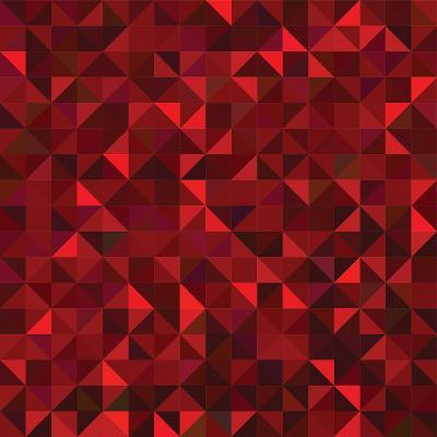 Red Geometric Background. Vector Mosaic Pattern