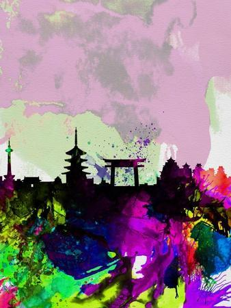 Kyoto Watercolor Skyline