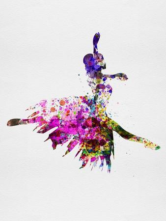 Ballerina on Stage Watercolor 4