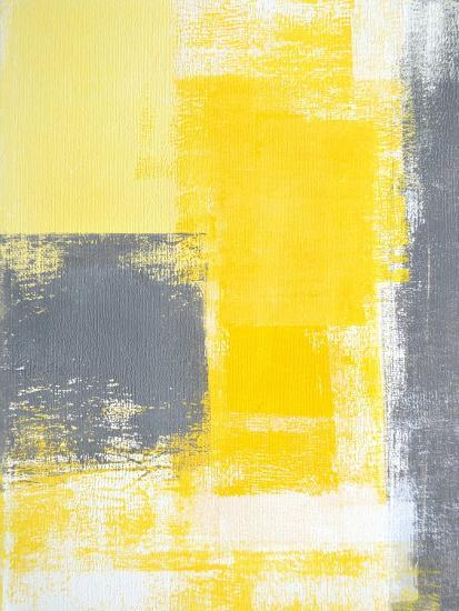 Grey And Yellow Abstract Art Painting Posters by ...Yellow Abstract Painting