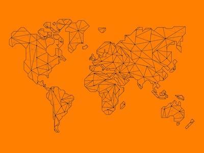 World Map Orange 2